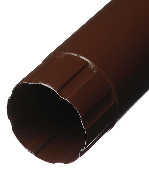 Труба водосточная Grand Line металлическая d90 мм 3 м коричневая RAL 8017