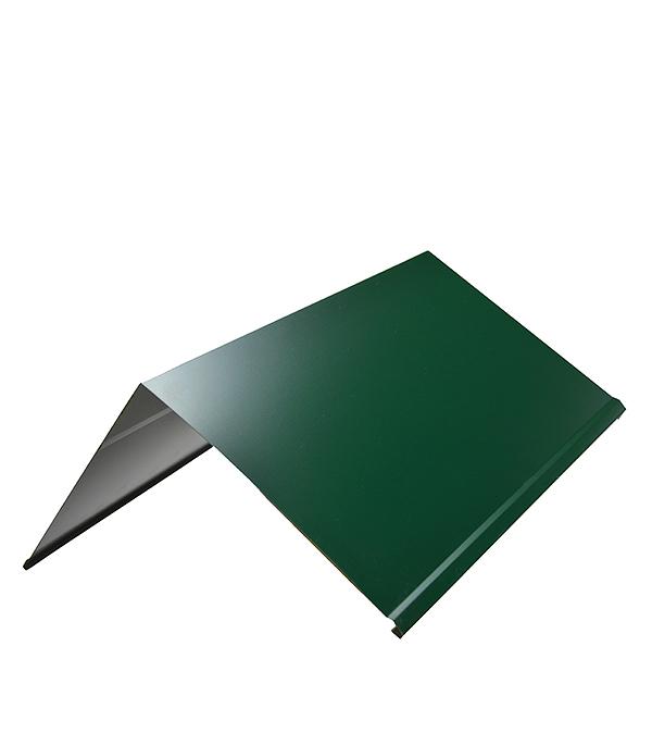 Фото - Конек для металлочерепицы 150х150мм 2 м зеленый RAL 6005 кронштейн для крепления колючей проволоки l образный зеленый ral 6005 grand line