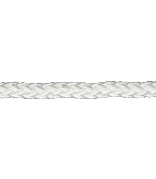 цена на Шнур плетеный полипропиленовый 12 прядей белый d6 мм 15 м
