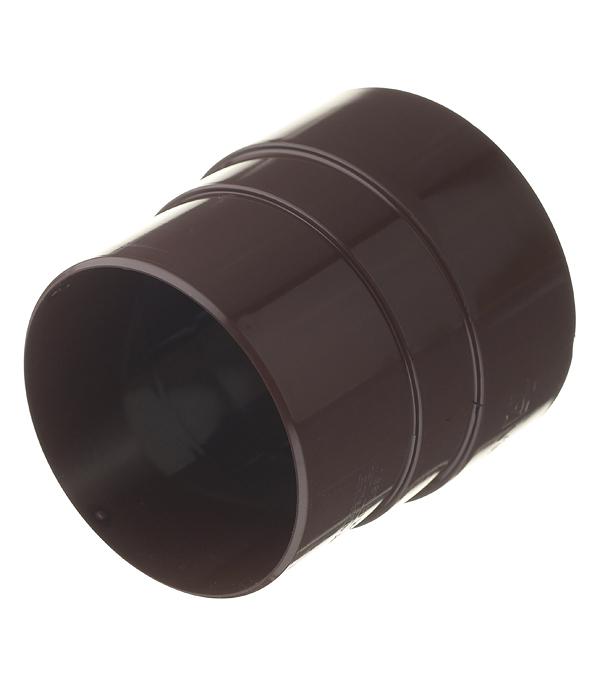 Муфта водосточной трубы Vinylon пластиковая соединительная d90 мм кофе RAL 8017 муфта водосточной трубы vinyl on соединительная пластиковая d90 мм коричневая кофе