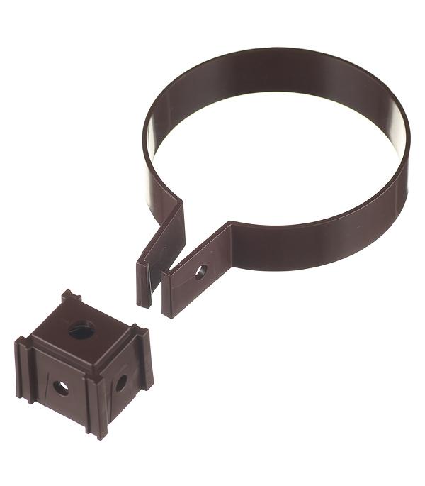 Хомут трубы Vinylon пластиковый d90 мм кофе RAL 8017 муфта водосточной трубы vinyl on соединительная пластиковая d90 мм коричневая кофе