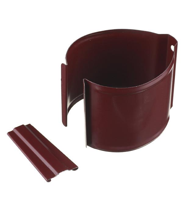 Кронштейн хомут труб Grand Line металлический на кирпичную стену d90 мм красное вино RAL 3005 с крепежом цена