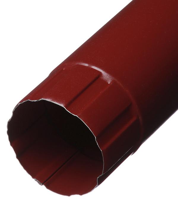 Труба водосточная Grand Line металлическая d90 мм 1 м красное вино RAL 3005 цена
