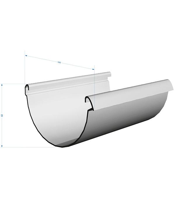 Желоб водосточный Docke Lux пластиковый d140 мм 3 м пломбир RAL 9003