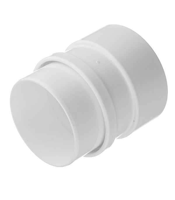 Муфта водосточной трубы Docke Lux пластиковая соединительная d100 мм пломбир RAL 9003 цена