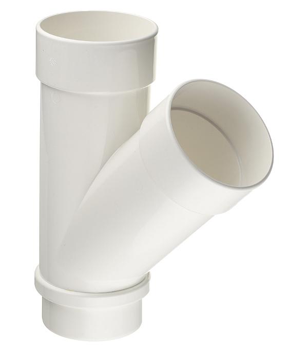 Тройник трубы Docke Lux пластиковый d100 мм 45° пломбир RAL 9003 цена