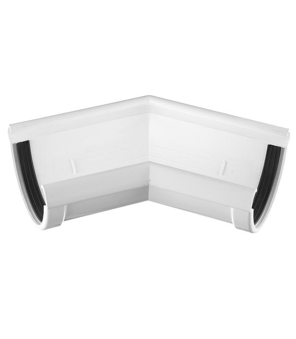 Угол желоба Docke Lux пластиковый d140 мм 135° пломбир RAL 9003