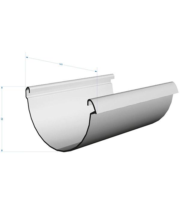 Желоб водосточный Docke Lux пластиковый d140 мм 3 м шоколад RAL 8019