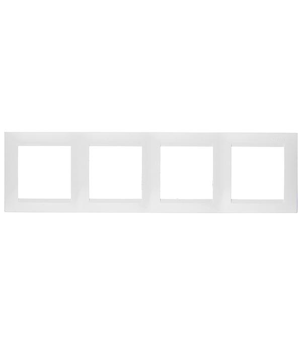 Рамка Simon 15 1500640-030 четырехместная универсальная белая рамка simon 15 1500620 030 2 я белая