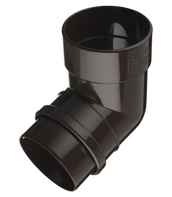 Колено трубы Docke Lux пластиковое d100 мм 72° шоколад RAL 8019 цена