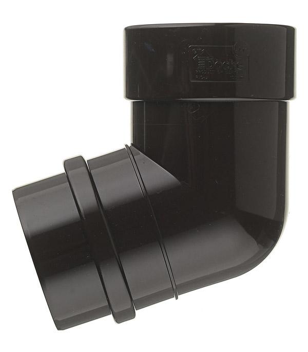 Колено трубы Docke Lux пластиковое d100 мм 72° шоколад RAL 8019