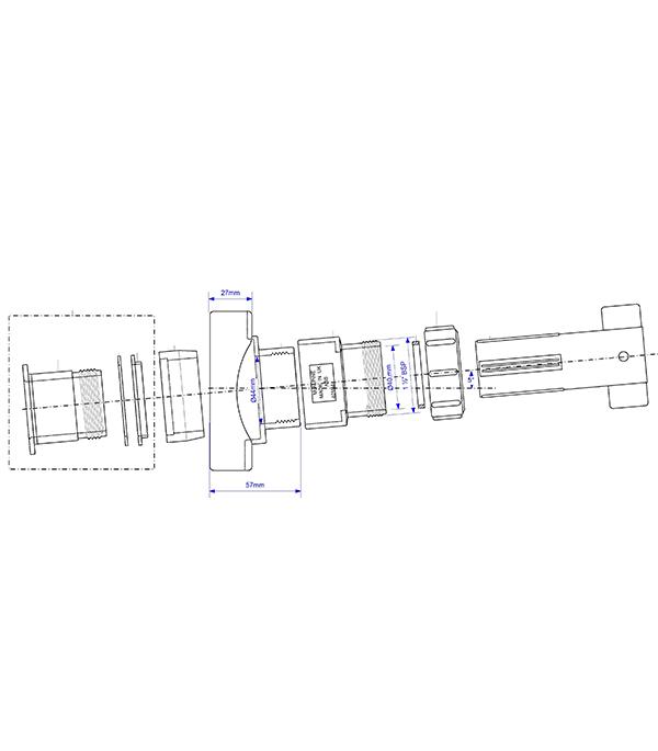 Врезка в трубу McAlpine d110 мм пластиковая