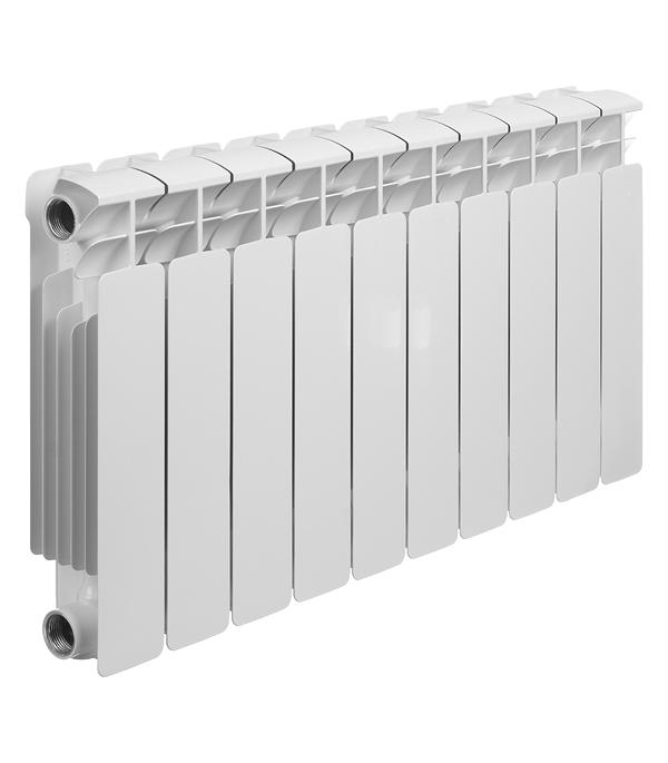 """Радиатор биметаллический Rifar Base 350 мм 10 секций 1"""" боковое подключение белый"""
