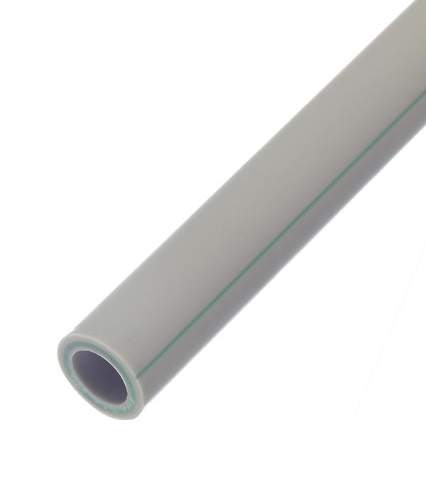 Труба полипропиленовая, армированная стекловолокном 25х2000 мм, PN 20 FV-PLAST серая труба полипропиленовая pn 25 армированная диам 63 1м п