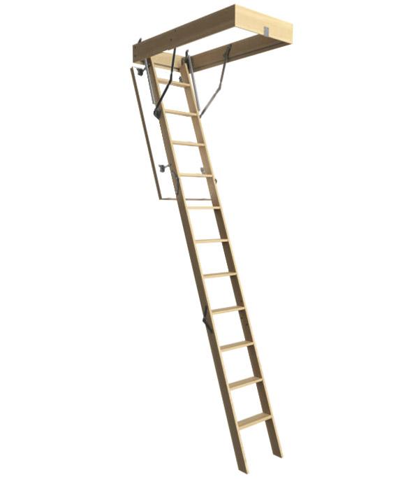 Лестница чердачная деревянная 300х60х120 см