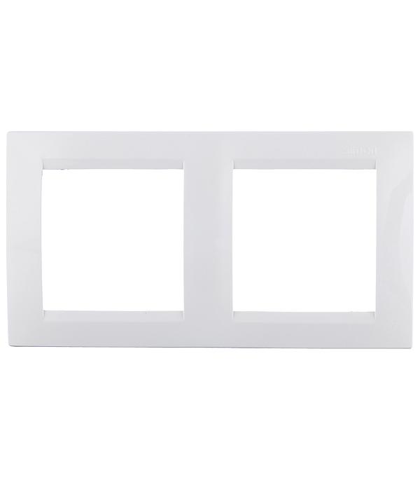 Рамка Simon 15 1500620-030 двухместная универсальная белая рамка simon 15 1500620 030 2 я белая