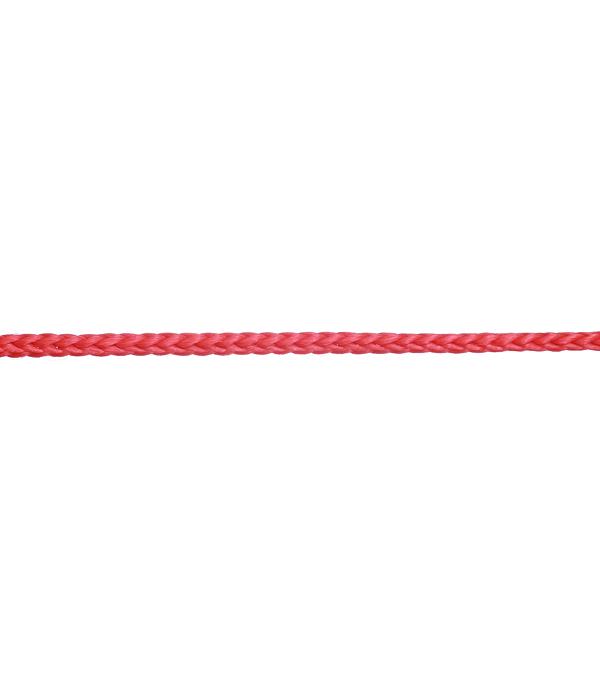 Шнур вязанный полипропиленовый 8 прядей красный d2 мм 50 м