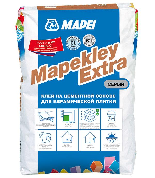 Клей для плитки и мозаики Mapei Mapekley Extra серый 25 кг фото