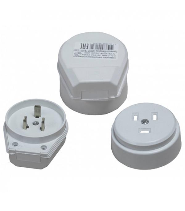 Комплект для подключения электроплит SVET СЭ РВШ 32-002 открытая установка с заземлением двухполюсный 1 фаза 32 А 250 В IP20 разъем рвш 32 002 открытая проводка для электроплит