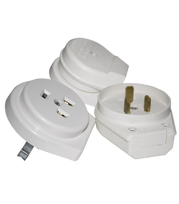 Комплект для подключения электроплит SVET СЭ РВШ 32-003 скрытая установка с заземлением двухполюсный 1 фаза 32 А 250 В IP20 разъем рвш 32 002 открытая проводка для электроплит