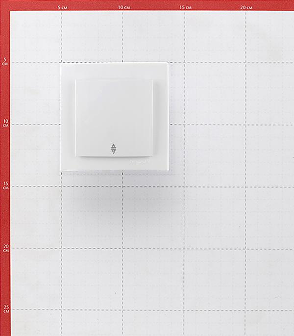 Переключатель с рамкой Nilson TOURAN 24111607 одноклавишный перекрестный скрытая установка белый фото