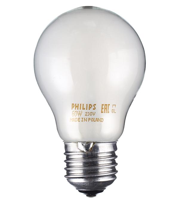 Лампа накаливания Philips 60 Вт E27 груша А55 220 В матовая