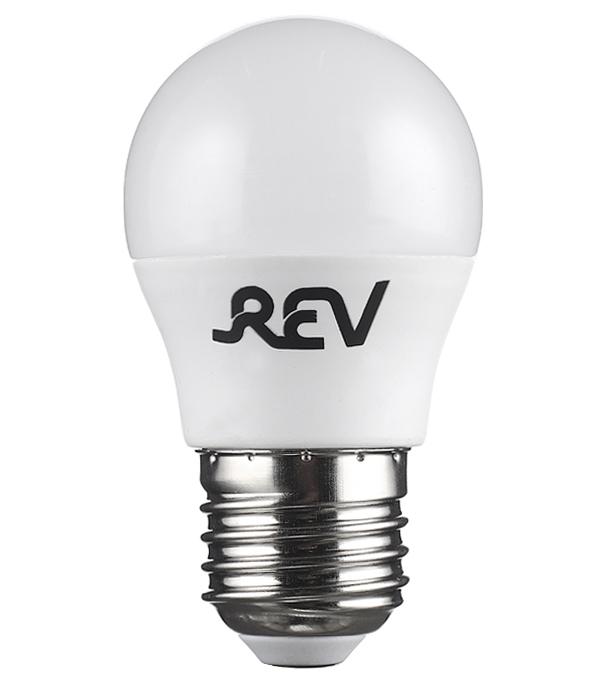 Лампа светодиодная REV 5 Вт E27 шар G45 2700 К теплый свет 230 В матовая лампа светодиодная sonnen 5 40 вт цоколь e27 свеча теплый белый свет led c37 5w 2700 e27 453707