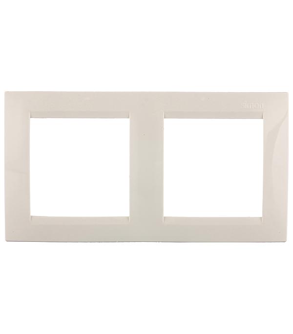 Рамка Simon 15 1500620-031 двухместная универсальная слоновая кость рамка simon 15 1500620 030 2 я белая