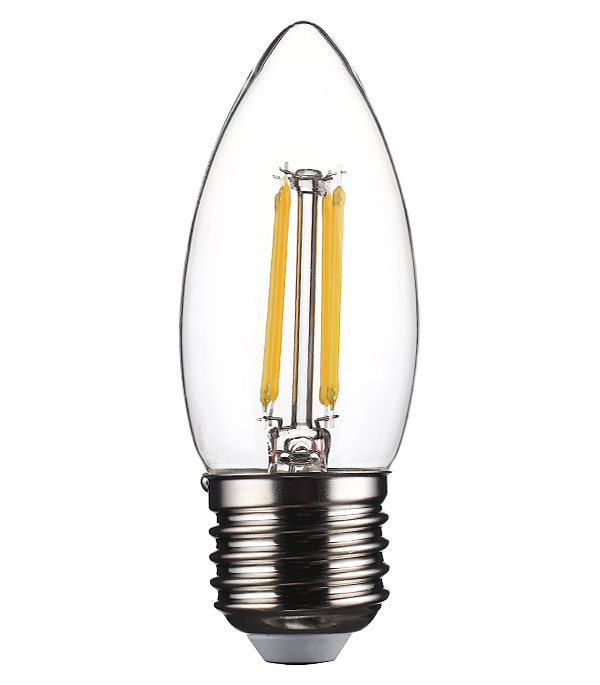 Лампа светодиодная REV 5 Вт E27 филаментная свеча С37 2700 К теплый свет 230 В прозрачная лампа светодиодная sonnen 5 40 вт цоколь e27 свеча теплый белый свет led c37 5w 2700 e27 453707
