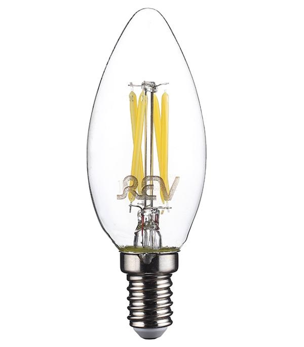 Лампа светодиодная REV 7 Вт E14 филаментная свеча С37 4000 К дневной свет 230 В
