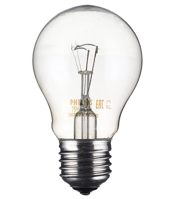 Лампа накаливания Philips 75 Вт E27 груша А55 220 В прозрачная