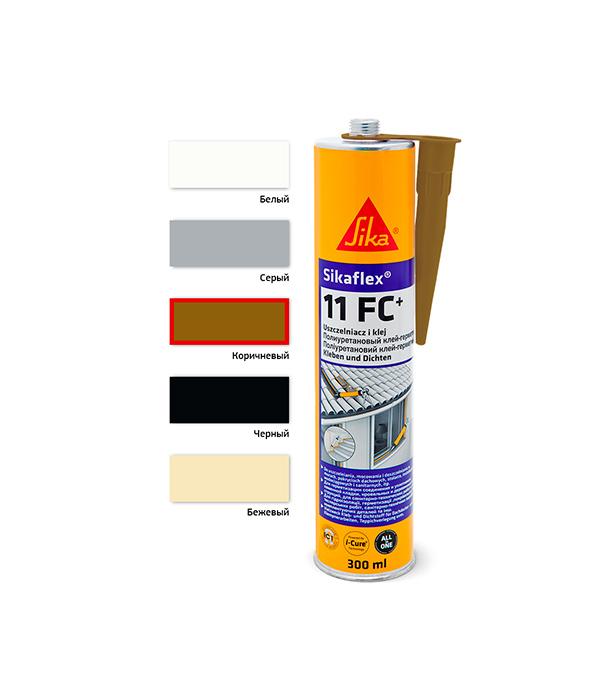Герметик клей полиуретановый Sikaflex 11 FC+ 300 мл коричневый герметик полиуретановый soudaflex 40 fc 310 мл белый