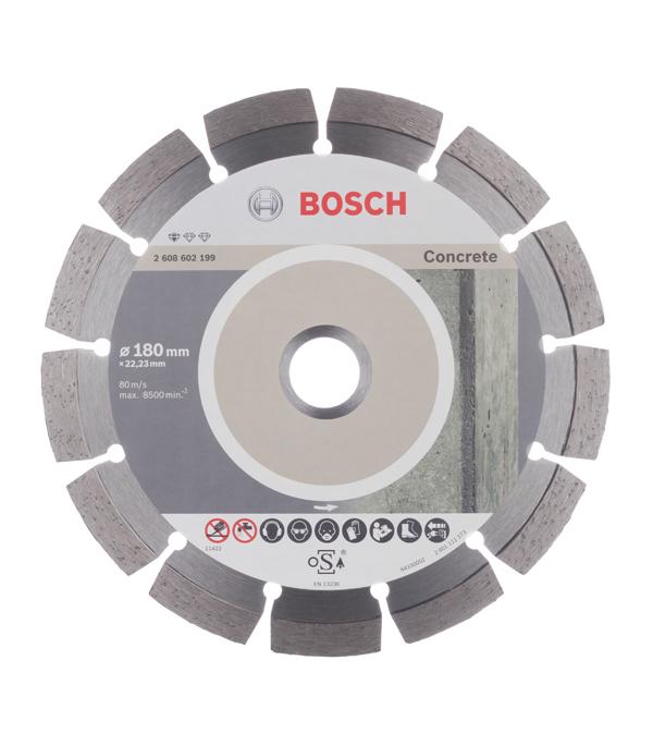 Диск алмазный сегментный по бетону Bosch Professional 180х22.2 мм диск алмазный сегментный универсальный 180х22 2 мм bosch профи