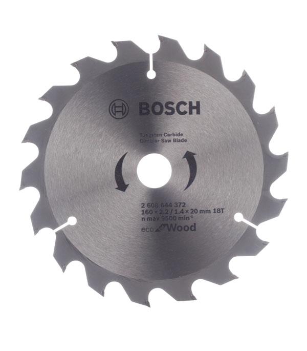 Диск пильный Bosch Optiline ECO 160х18х20/16 мм bosch optiline eco 2608641789