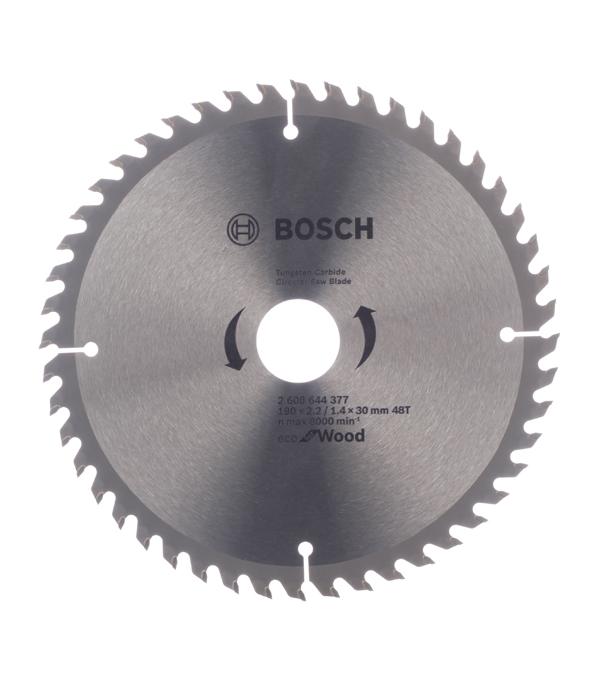 Диск пильный Bosch Optiline ECO 190х48х30 мм диск пильный 190х24х30 мм optiline bosch профи