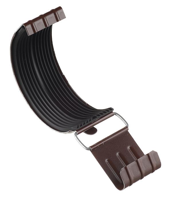 Соединение желоба Grand Line 125 мм коричневое металлическое желоб водосточный металлический 125 мм коричневый 2 5 м grand line