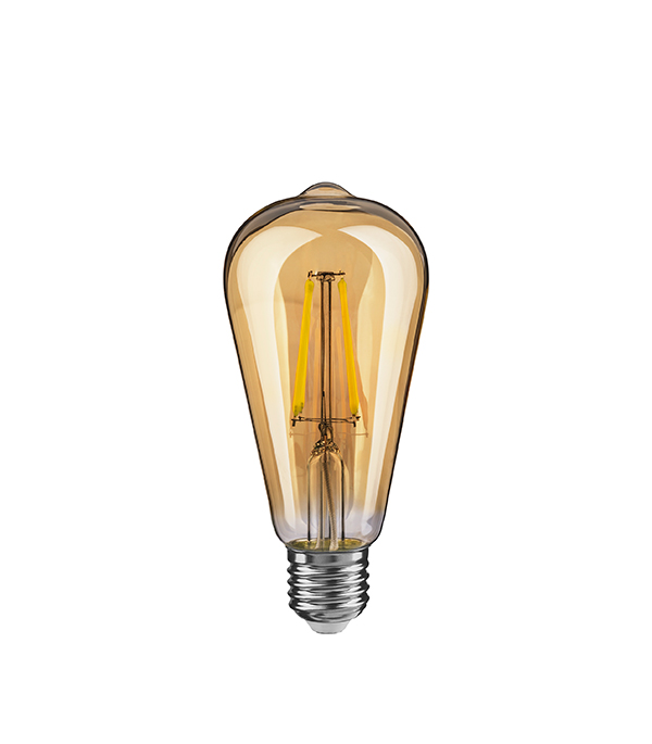 Лампа светодиодная Navigator Е27 4Вт винтаж ST64 золотистая колба 2500К теплый свет лампа светодиодная navigator е27 4вт винтаж st64 золотистая колба 2500к теплый свет