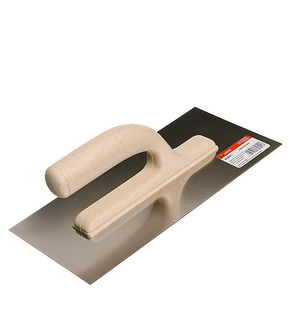 Гладилка плоская 270х130 мм с облегченной ручкой Corte гребенка из нержавеющей стали corte 0416
