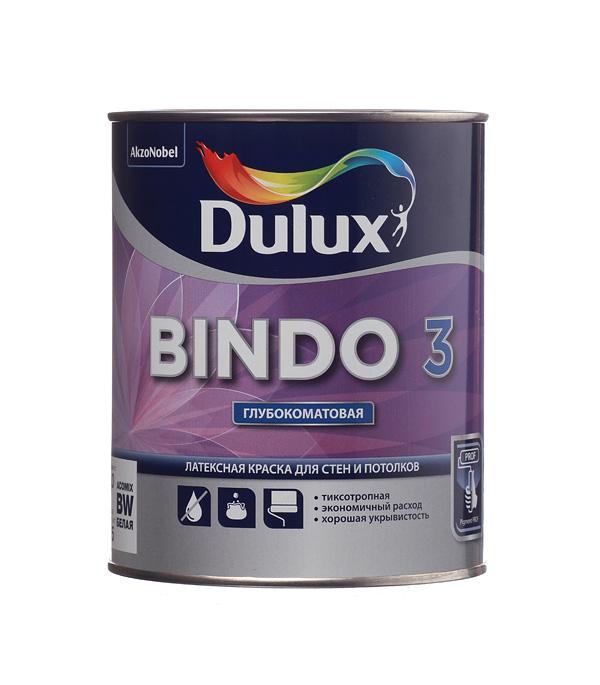 Краска в/д Dulux Bindo 3 основа BW глубокоматовая латексная 1 л
