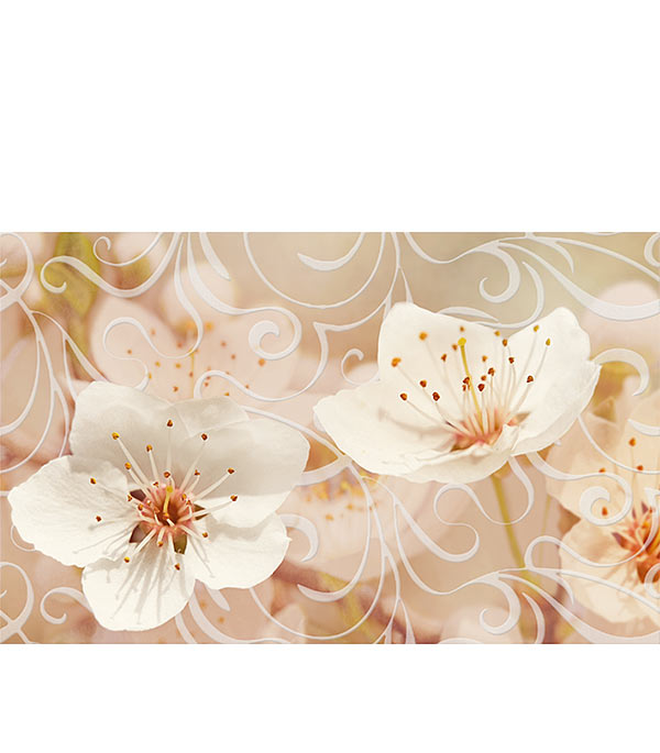 Плитка декор Сакура 250х400х8 мм коричневый 03 плитка декор 250х400х8 мм бамбук бежевый 4