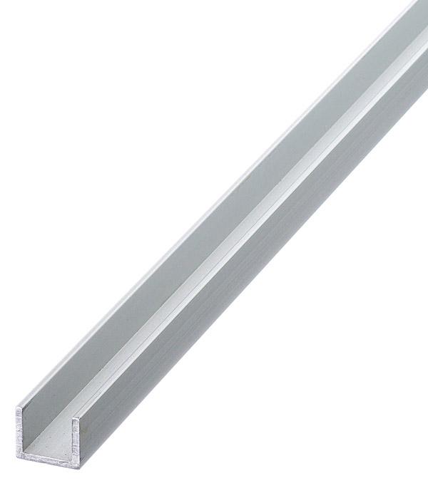 Профиль U-образный алюминиевый 10х12х10х1,5х1000 мм анодированный профиль arlight 014907