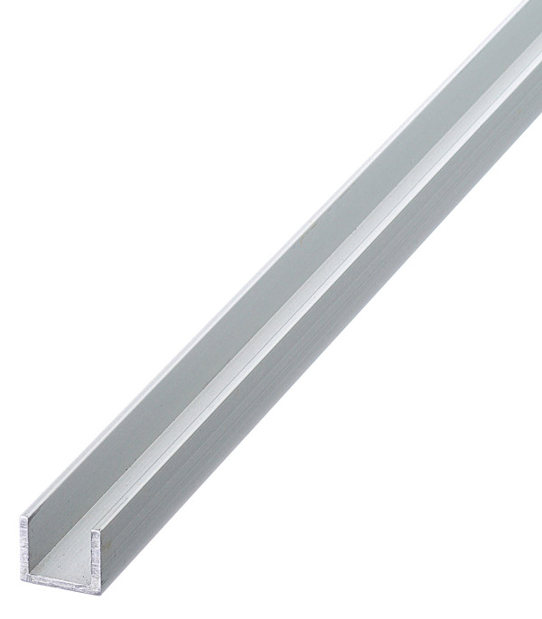 Профиль U-образный алюминиевый 10х12х10х1,5х2000 мм анодированный arlight алюминиевый профиль box60 side 2000 anod