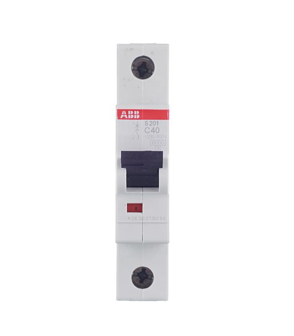 Автомат 1P 40А тип С 6 kA ABB S201 автомат 1p 16а тип с 6ка abb s201