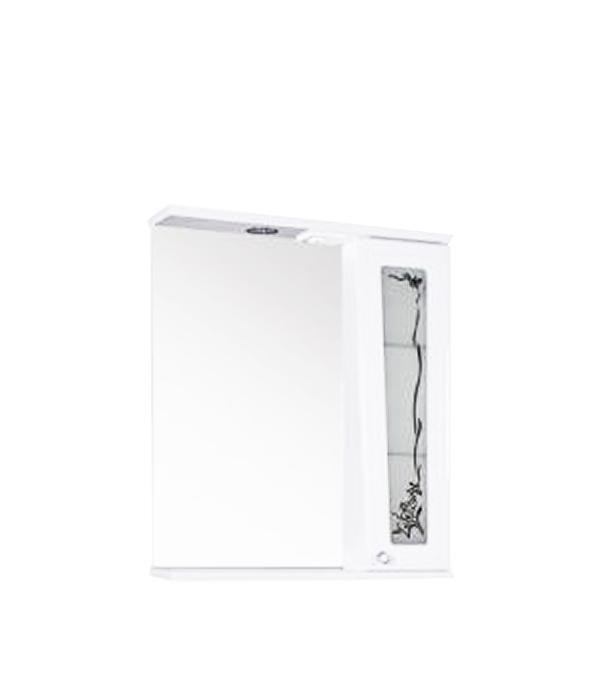 Зеркало АСБ-Мебель Анита 650 мм с подсветкой белое