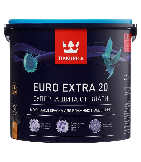 Краска в/д Tikkurila Euro Extra 20 основа C полуматовая 2.7 л  - Купить