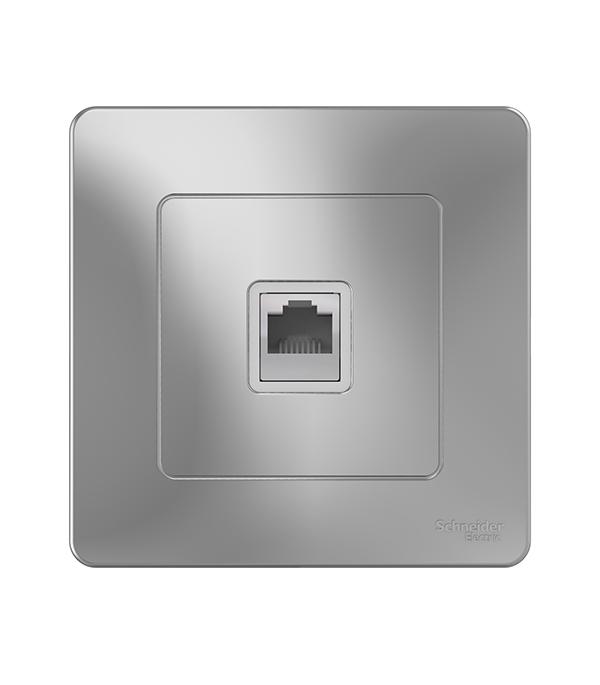 Розетка телефонная с/у Schneider Electric Blanca алюминий аксессуары для телефонов fk rj11 6p4c adsl splitter filter