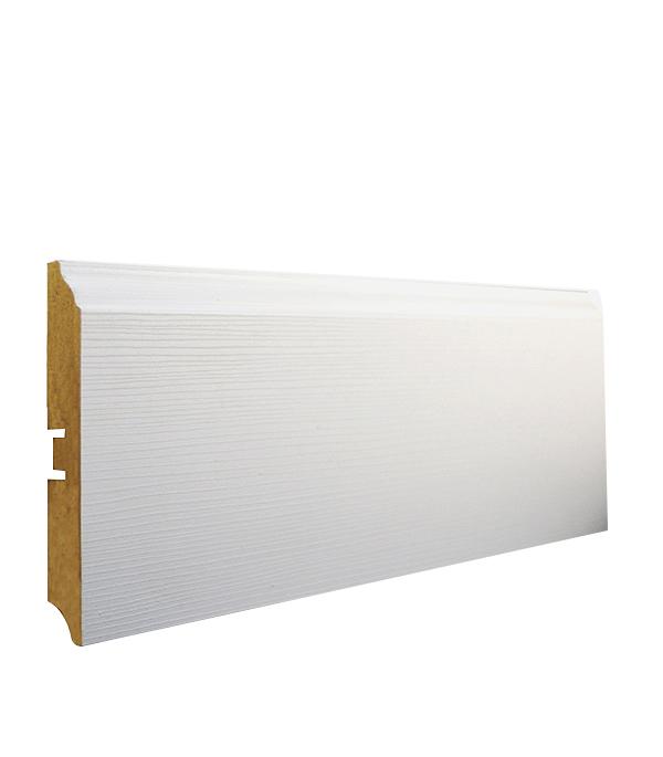 Плинтус Smartprofile Paint МДФ 3D wood 100 В Белый 2,4 м