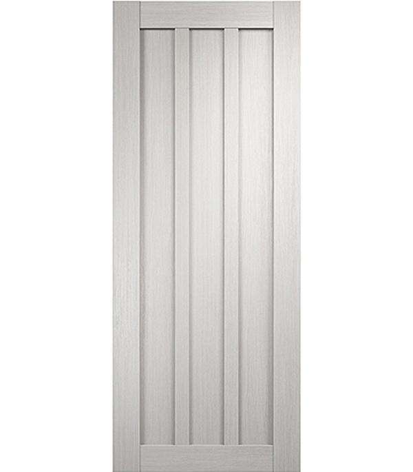 Дверное полотно экошпон Интери 3-0 белый дуб 600х2000 мм глухое без притвора