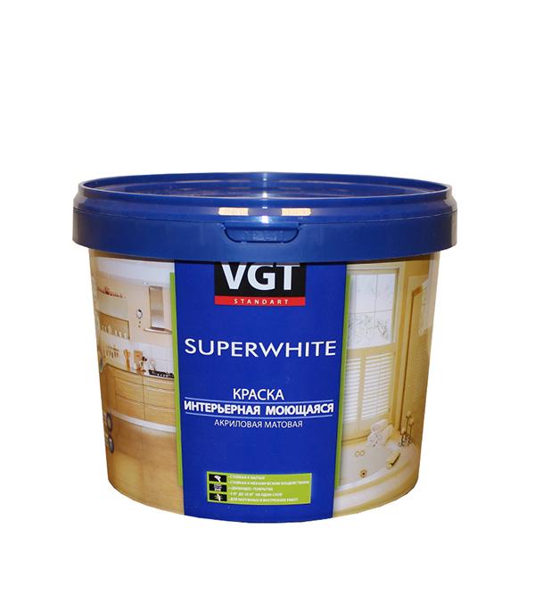 Краска водно-дисперсионная VGT моющаяся белая основа А 1,7 л/2,5 кг эмаль универсальная матовая основа c vgt 30 кг