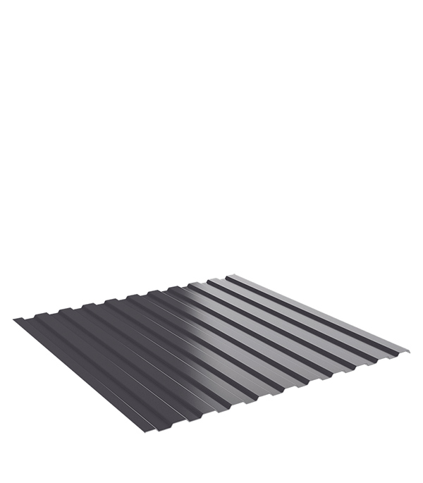 Профнастил С8 1,2х2 м 0,45 мм графитовый серый RAL 7024 профнастил с8 1 2х2 м 0 45 мм графитовый серый ral 7024